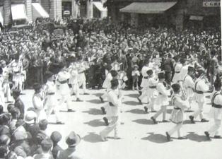 Fanfara la defilarea Tinerimii Romane, 1935