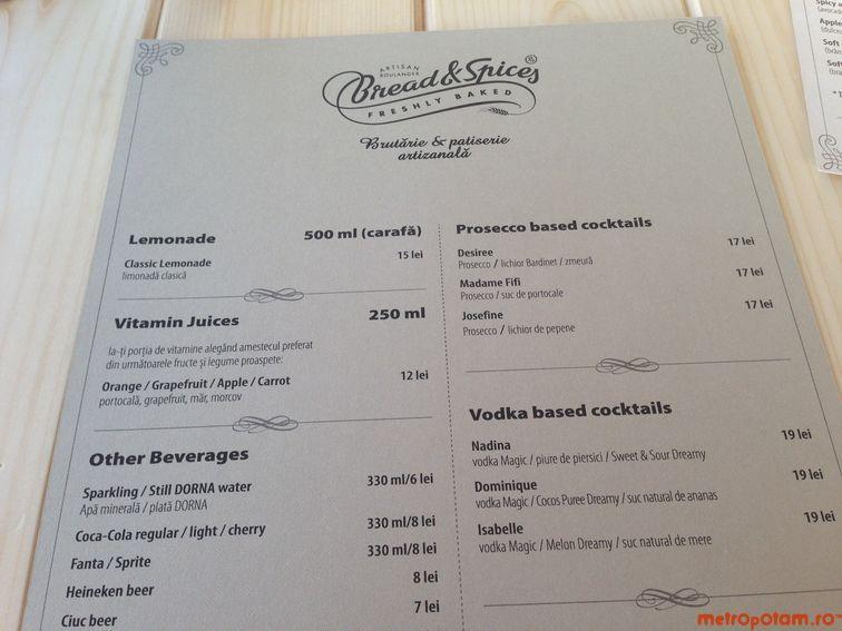 Drinks menu 1