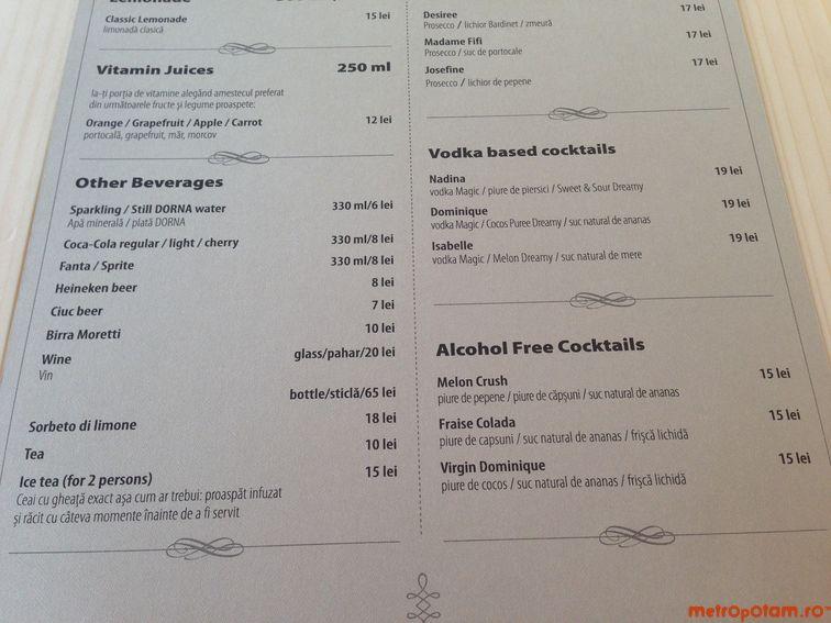 Drinks menu 2