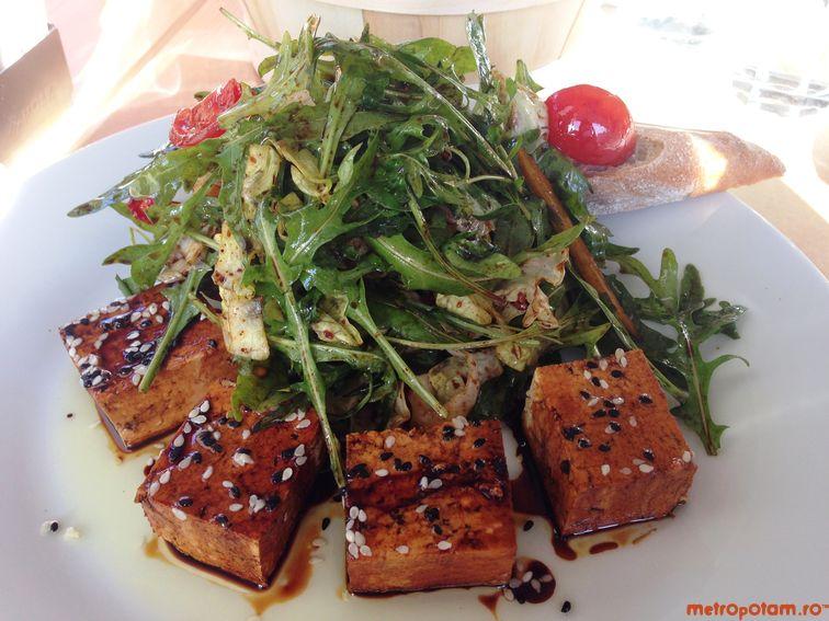 Japanese chilled tofu salad