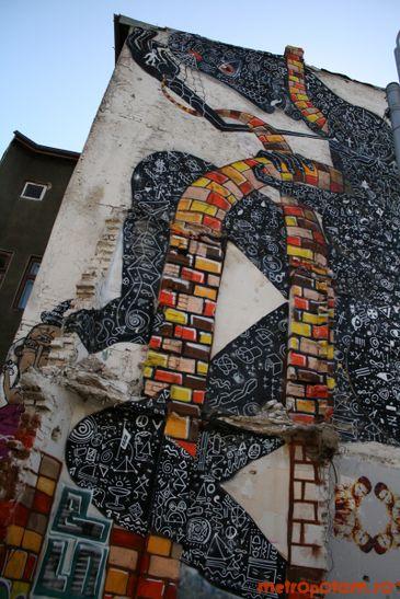 Graffitiul de la intersectia strazilor Stirbei Voda cu Berzei
