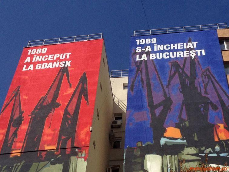 Cea mai mare si mai neinspirata pictura murala din Bucuresti pe un bloc din Drumul Taberei