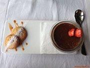 Chocolate & coffee creme brulee