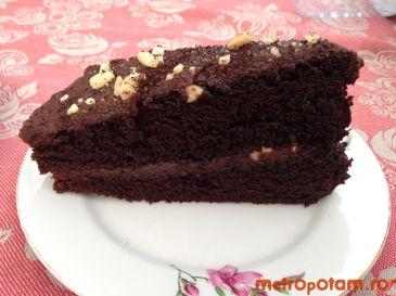 Tort de ciocolata cu alune si cafea