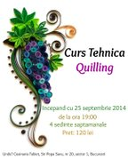 Workshops - Curs Tehnica Quilling