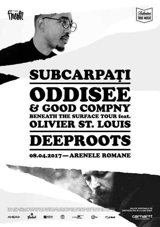 Concerte din Bucuresti - The Fresh - Subcarpati, Oddisee, Olivier St. Louis, Deeproots