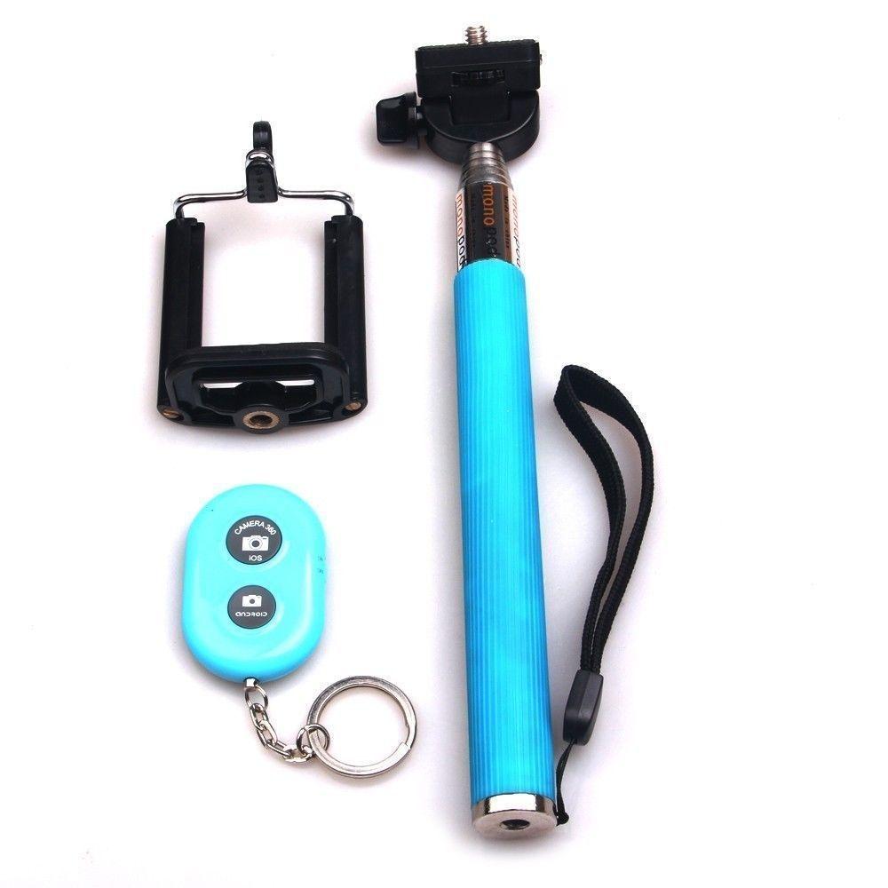 Selfie Stick - Monopod extensibil cu suport pentru telefon si telecomanda wireless