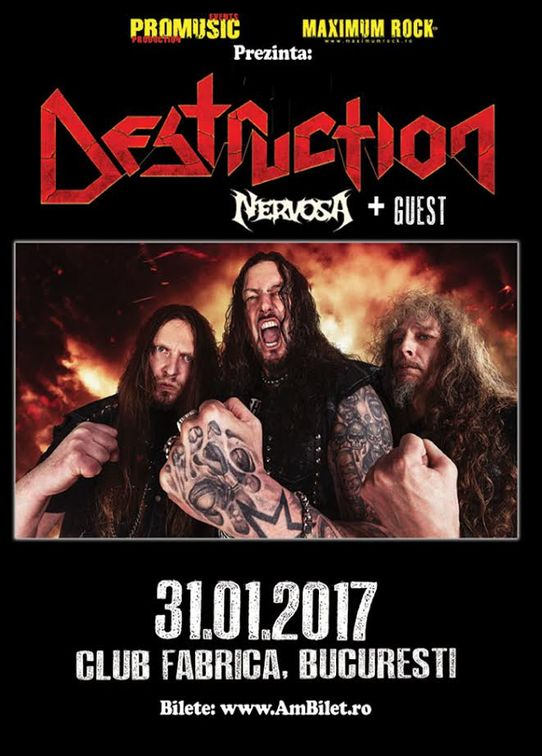 Concerte din Bucuresti - Destruction, Nervosa