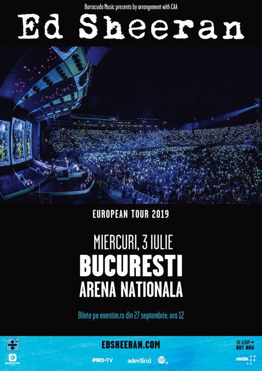 Concerte din Romania - Ed Sheeran