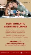 Alte evenimente - Your romantic Valentine's Dinner
