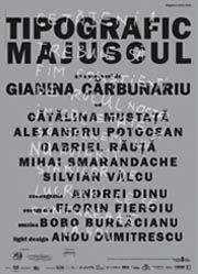 Piese de teatru din Bucuresti - Tipografic majuscul