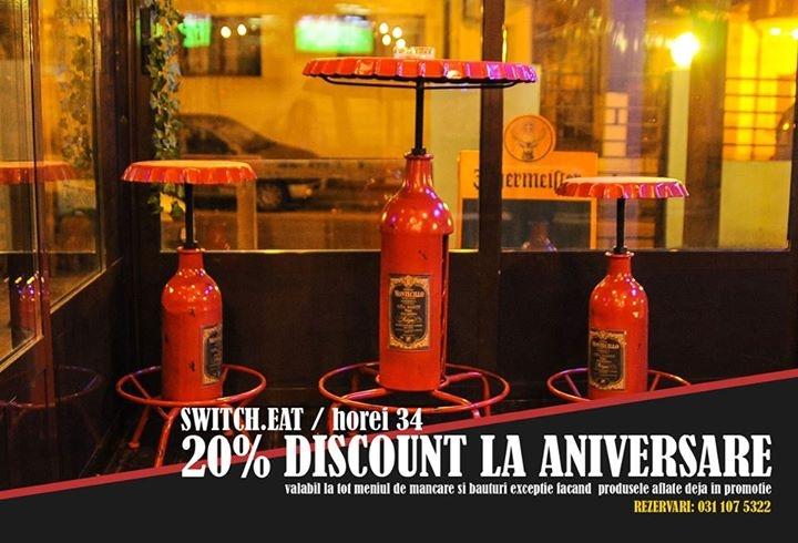 20% discount la aniversari