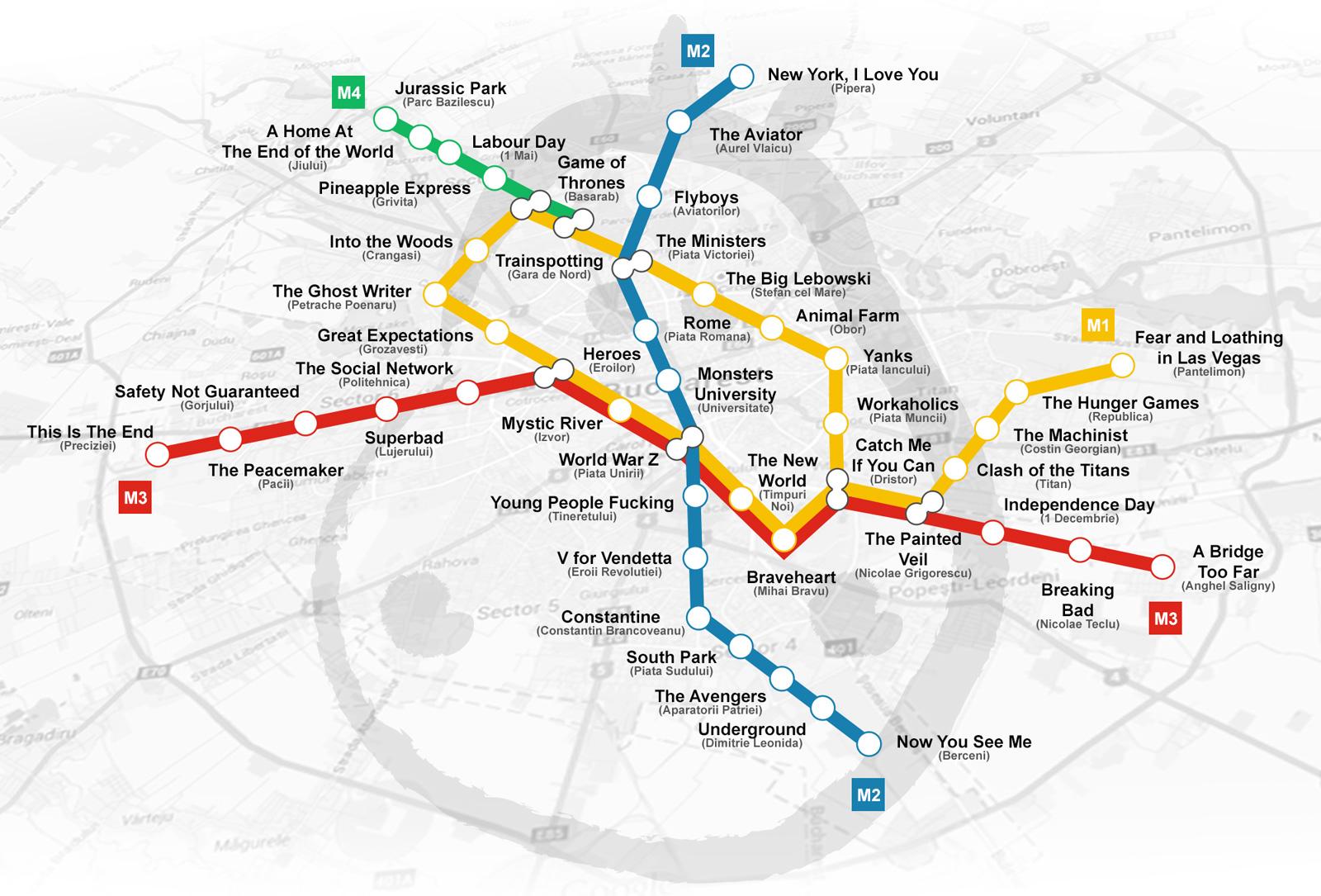Cum Ar Arata Harta Metroului Din Bucuresti Daca Statiile Ar Purta