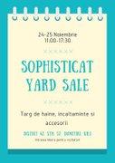 Targuri din Bucuresti - Sophisticat Yard Sale - Targ de haine si accesorii