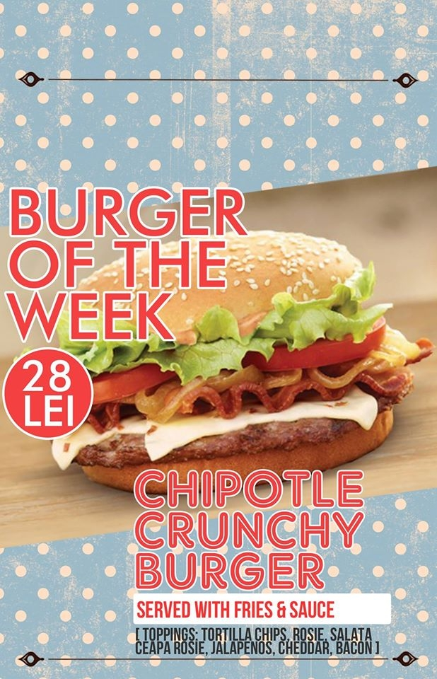 Chipotle crunchy burger