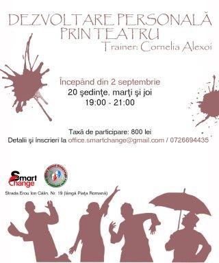 Workshops - Curs de dezvoltare personala prin teatru, pentru toate varstele!