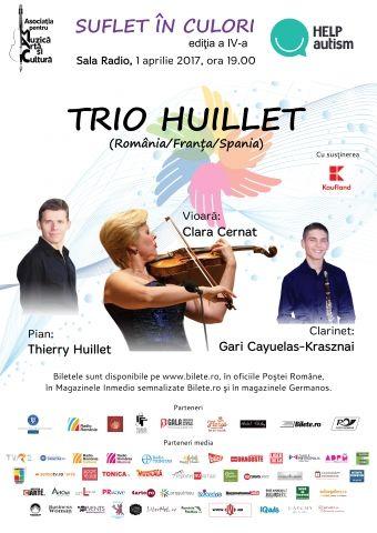Concerte din Bucuresti - Suflet in Culori: Trio Huillet - concert caritabil