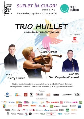 Suflet in Culori: Trio Huillet - concert caritabil
