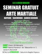Workshops din Bucuresti - Seminar Gratuit Arte Martiale - A.C.S Green Dragon