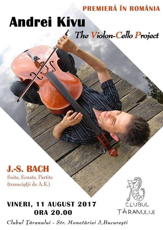 Concert de muzica de Bach w. Andrei Kivu (violoncel)