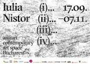 Expozitii - Iulia Nistor | (i)... (ii)... (iii)... (iv)...