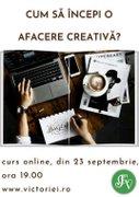 Alte evenimente din Bucuresti - Atelier online – Cum sa incepi o afacere creativa?