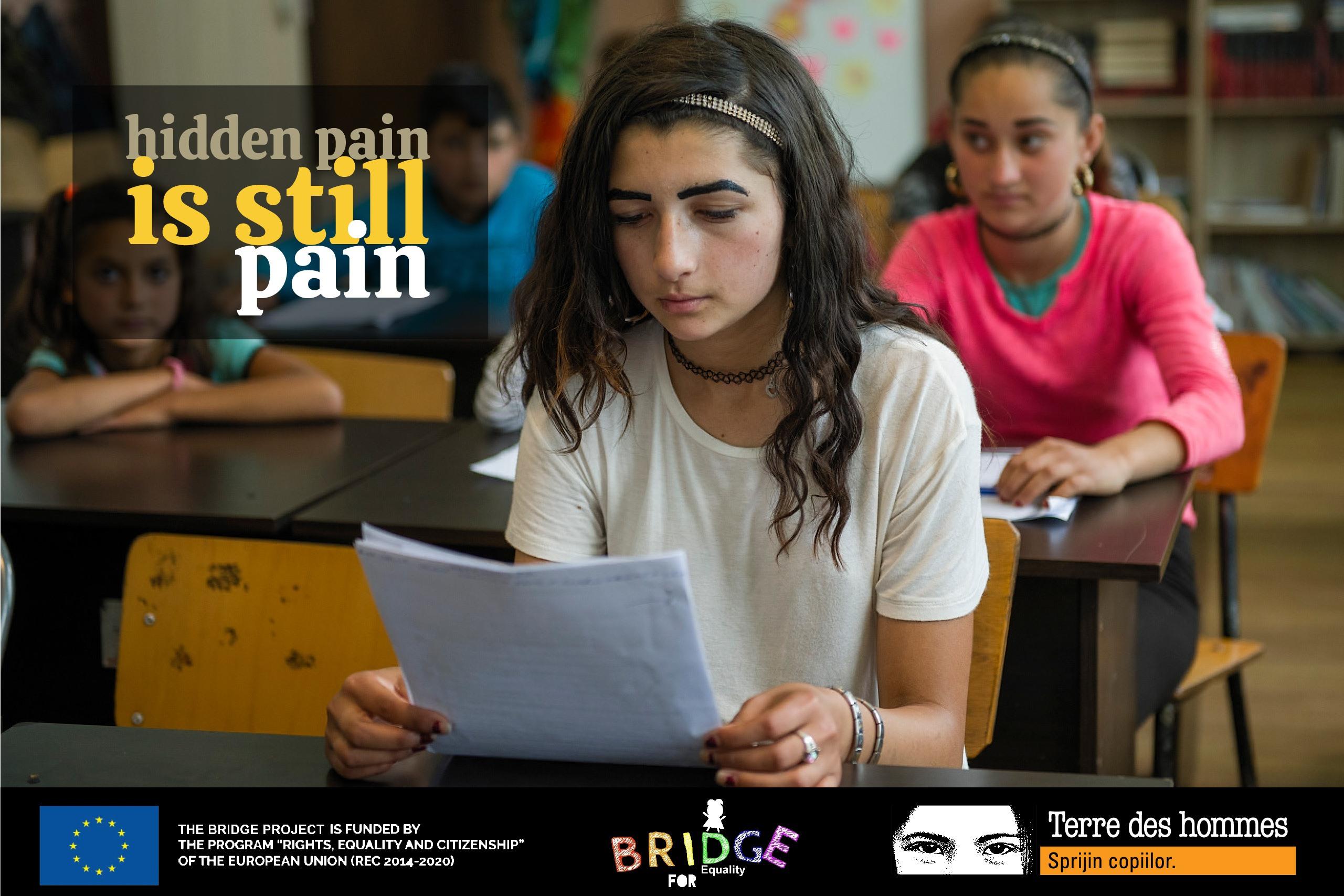 """Campania """"Hidden pain is still pain"""" - Violența de gen nu trebuie ascunsă"""
