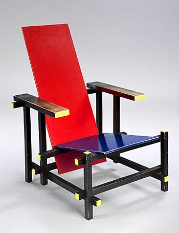 Art object red and blue chair rietveld la zi pe metropotam - Chaise rouge et bleue ...