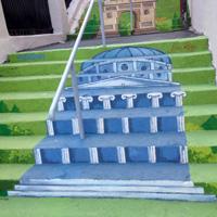 Locuri de vizitat - Cum arata singura strada in trepte din Bucuresti dupa ce a fost pictata