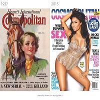 Cum au evoluat copertile revistelor populare in ultimii 100 de ani