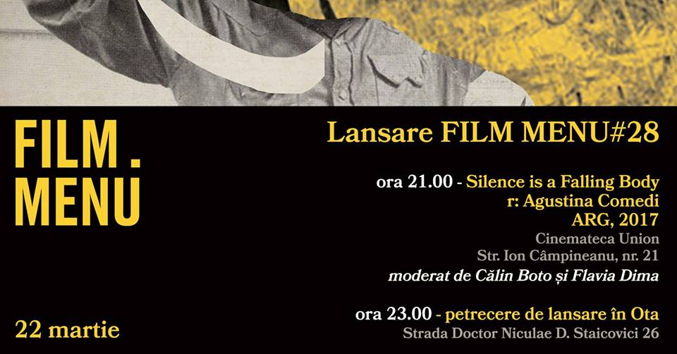 Lansare FILM MENU #28 - proiecție + petrecere