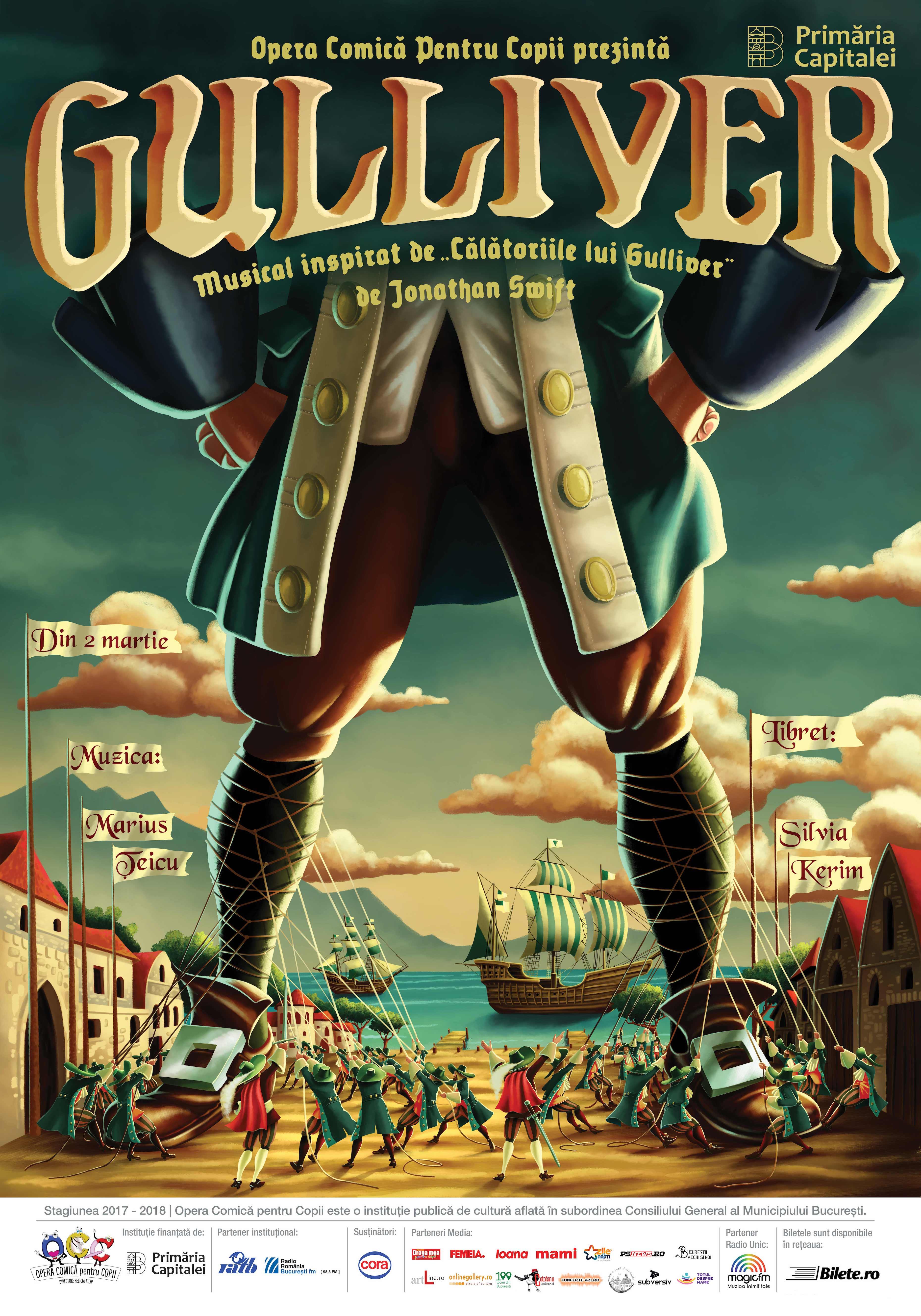 Musicalul ?Gulliver?, premiera lunii martie la Opera Comic? Copii