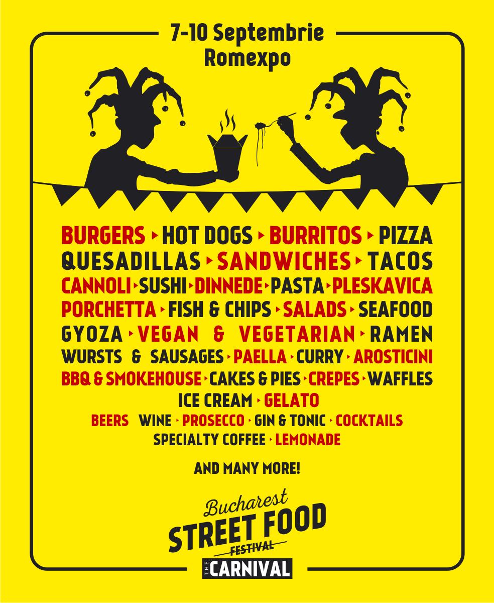 Bucharest Street Food Carnival- mancare si muzica intre 7-10 septembrie
