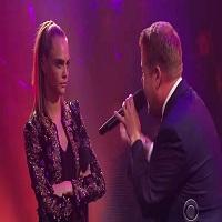 Cara Delevingne a facut rap battle cu Dave Franco la emisiunea lui James Corden