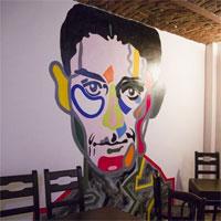 Cronici Cafenele din Bucuresti, Romania - Barul KAFKA - rock clasic si pereti pictati pe Carol 55