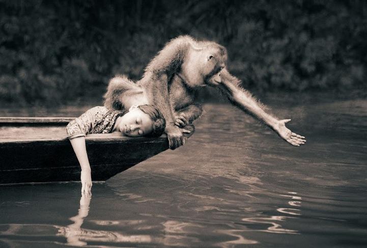 Fotografiile care au reusit sa surprinda relatia supranaturala dintre oameni si animalele salbatice