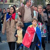A opta duminica de proteste in Bucuresti, cu un mars fara jandarmi si politie