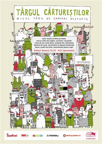 poster targul carturestilor 2009 net  Târgul CĂRTUREŞTILOR, micul târg de cadouri deştepte