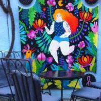 Cronici Ceainarii din Bucuresti, Romania - Lente, terasa cu poezii si desene pe pereti din zona Universitatii unde merita sa bei ceva cu prietenii