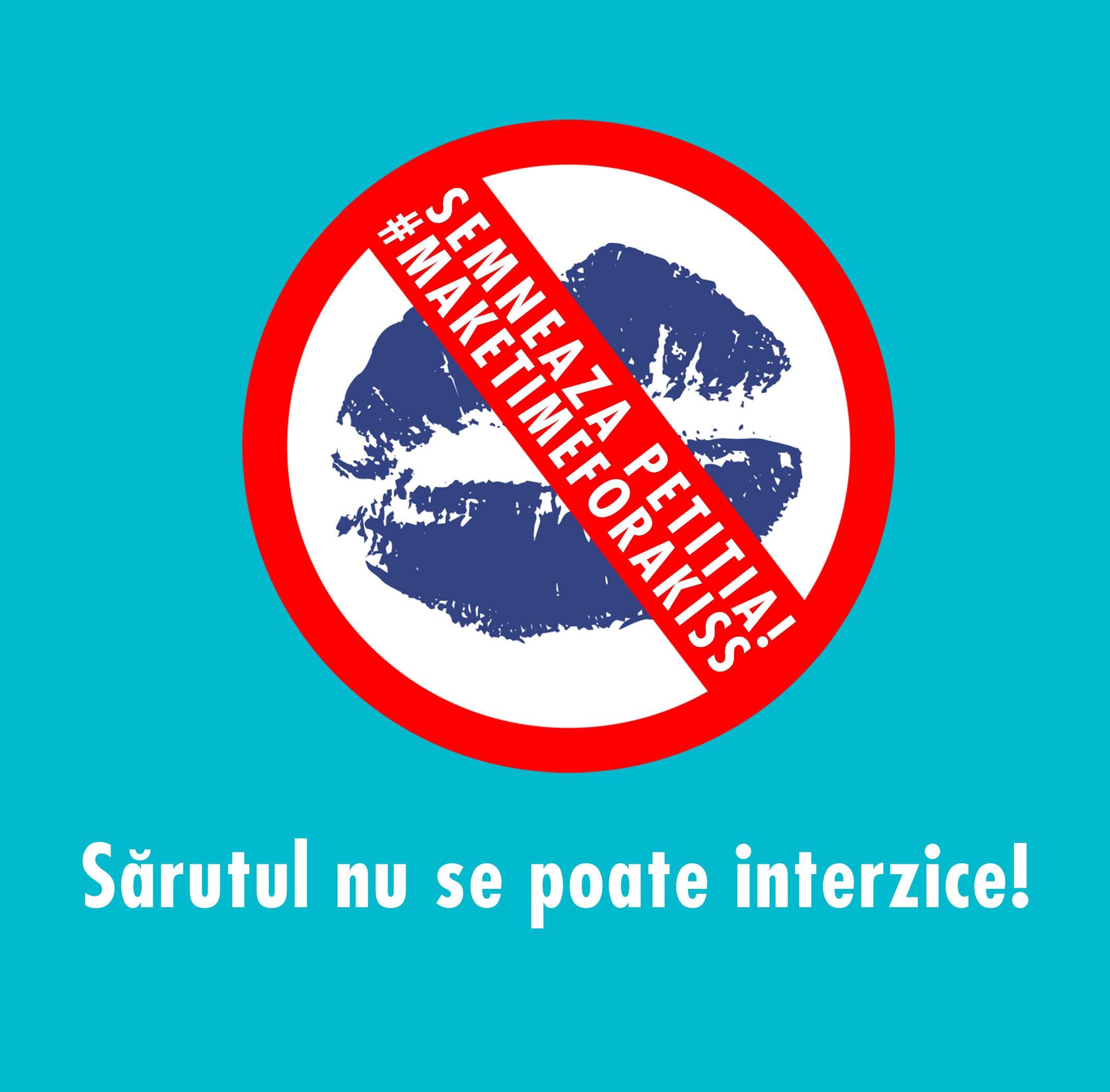 "Adela Popescu sustine petitia ""Make time for a kiss"" (P)"