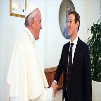 Mark Zuckerberg s-a intalnit cu Papa si i-a oferit acestuia o drona