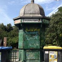 Cel mai vechi chiosc de ziare din Bucuresti, transformat in toaleta publica