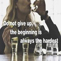 Motto-uri motivationale de fitness combinate cu imagini despre alcoolism