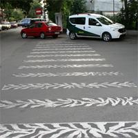 I love Bucuresti - I <3 Bucuresti: Trecerea de pietoni cu piele de zebra
