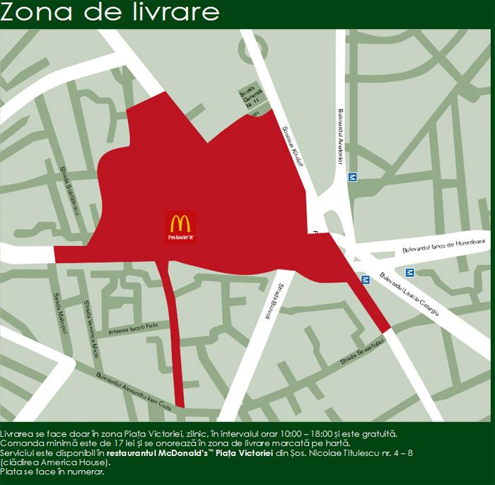 McDonalds face livrari la domiciliu in Bucuresti