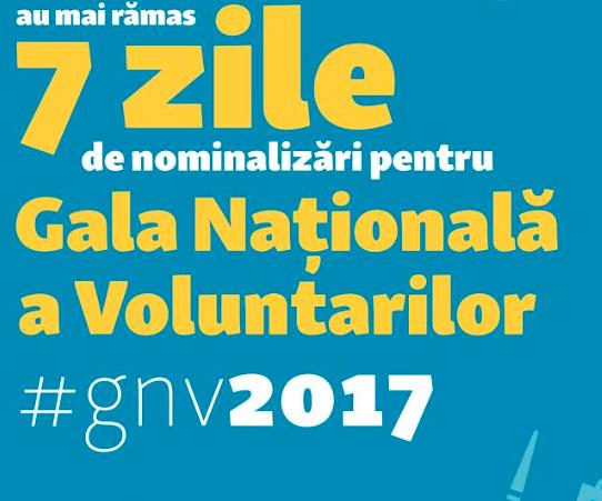 Nu rata înscrierile pentru Gala Națională a Voluntarilor 2017