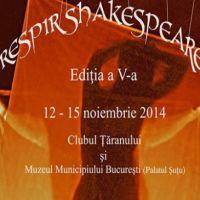 Festivalul necoventional Respir Shakespeare: teatru, conferinte si proiectii de filme