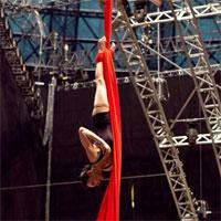 De vorba cu oamenii din spatele spectacolului Quidam - Cirque du soleil. Poze de la primele repetitii din Bucuresti.