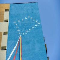 O noua pictura murala a fost inaugurata pe un bloc din Militari