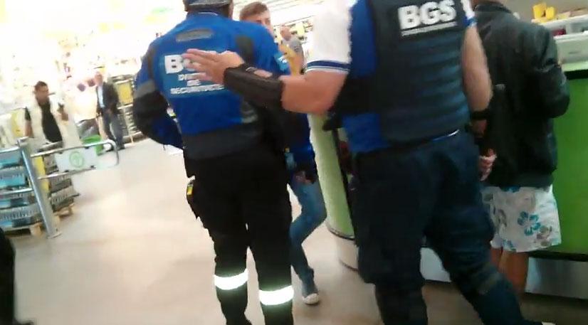 Clientii magazinului Leroy Merlin, agresati de agentii de la BGS (VIDEO)